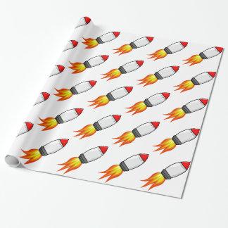 Papel De Presente Míssil de Rocket