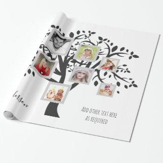Papel De Presente Modelo da árvore genealógica da colagem da foto