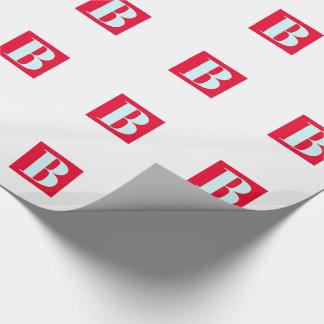 Papel De Presente Monograma brilhante e elegante do alfabeto