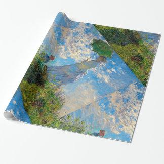 Papel De Presente Mulher com um impressionista de Claude Monet do