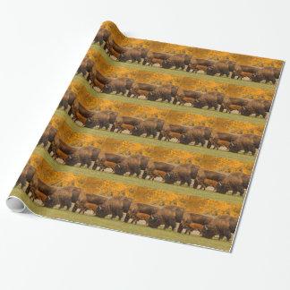 Papel De Presente Nação da família do bisonte