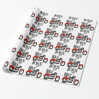 Papel De Presente Nascer à bicicleta