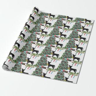 Papel De Presente Natal da chihuahua