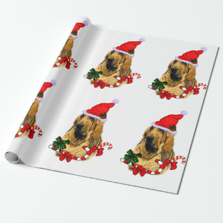 Papel De Presente Natal do Bloodhound