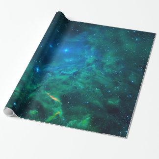 Papel De Presente Nebulosa flamejante da estrela