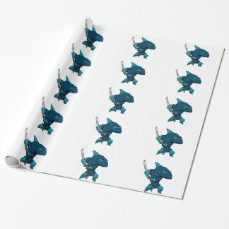 Papel De Presente Ninja do tubarão