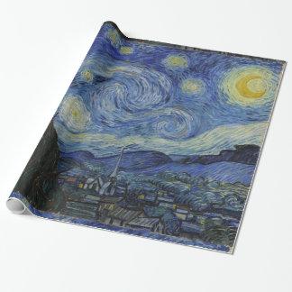 Papel De Presente Noite estrelado de Van Gogh