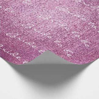 Papel De Presente Noiva personalizada da escova a ser rosa vívido do