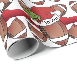 Papel De Presente Nome do futebol | DIY do Natal do chapéu do papai