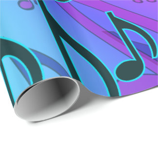 Papel De Presente Notas sonhadoras da música de Swirly do teste