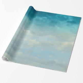 Papel De Presente Nuvens azuis da matiz