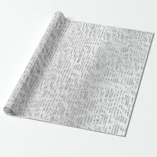 Papel De Presente O abstrato de prata forma perolado metálico da