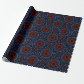 Papel De Presente O azul e o vermelho estouraram o design sagrado