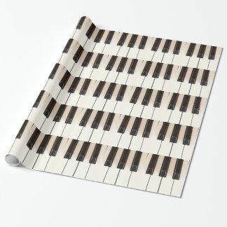 Papel De Presente O branco preto do piano fecha o papel de papel de