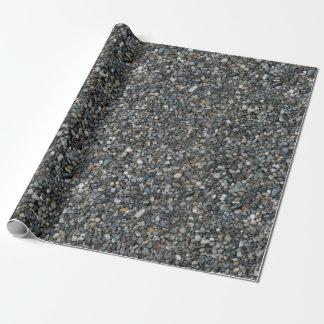 Papel De Presente O cascalho da ervilha cinzenta balança seixos