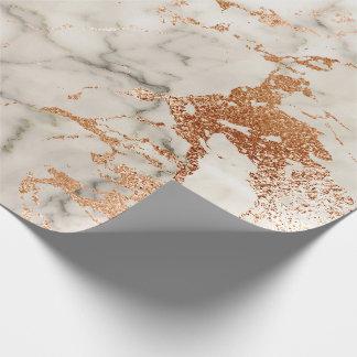 Papel De Presente O coral cor-de-rosa do ouro do abstrato cora pedra