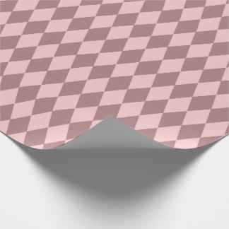 Papel De Presente O corte do diamante da geometria cora malva do