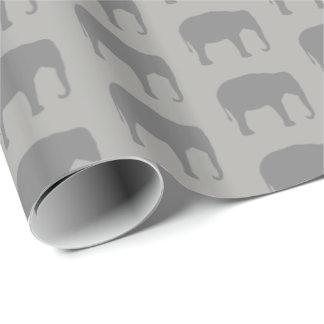 Papel De Presente O elefante asiático mostra em silhueta o teste