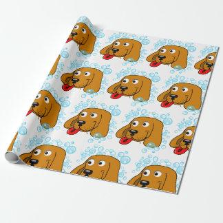 Papel De Presente O filhote de cachorro bonito borbulha papel de