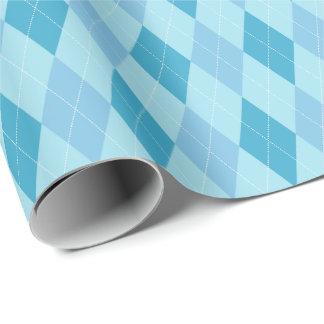Papel De Presente O grande azul tonifica o papel de envolvimento de