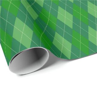 Papel De Presente O grande verde tonifica o papel de envolvimento de