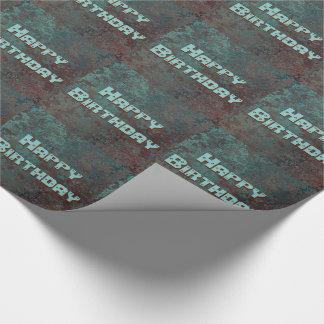 """Papel De Presente O impressão """"de cobre"""" da corrosão telhou o feliz"""