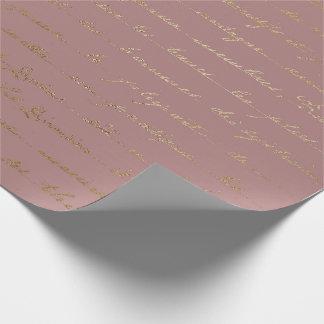Papel De Presente O Lilac malva do ouro velho do roteiro cora Paris