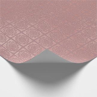 Papel De Presente O ouro cor-de-rosa cora tribal africano oriental