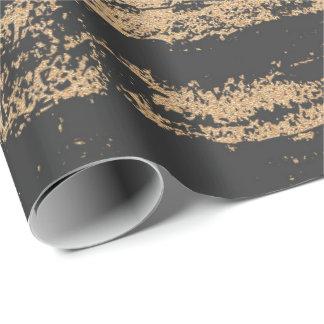 Papel De Presente O ouro mais foxier preto cora o encanto de pedra