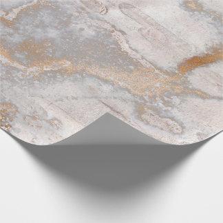 Papel De Presente O ouro sujo cora mármore rústico da casa de campo