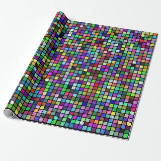 Papel De Presente O quadrado multicolorido telha o teste padrão (o