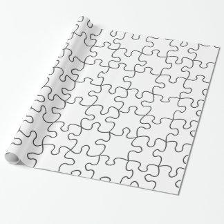 Papel De Presente O quebra-cabeça remenda (adicione a cor ou a
