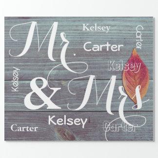 Papel De Presente O Sr. & a Sra. Casamento/aniversário