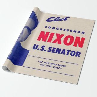 Papel De Presente O vintage elege o senador de Nixon do congressista