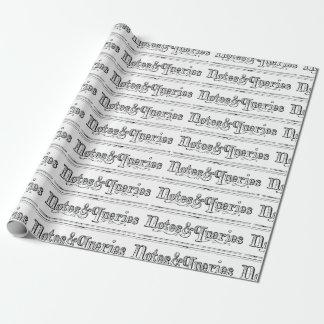 Papel De Presente O vintage nota e pergunta Typograph