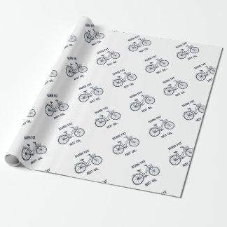 Papel De Presente Óleo da gordura da queimadura da bicicleta não