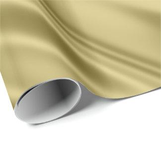 Papel De Presente Olhar do tecido do cetim do falso da cor do ouro