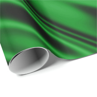 Papel De Presente Olhar do tecido do cetim do falso do verde