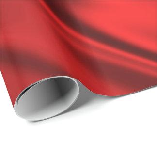 Papel De Presente Olhar vermelho vibrante do tecido do cetim do