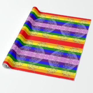 Papel De Presente Orgulho gay colorido do teste padrão LGBT do