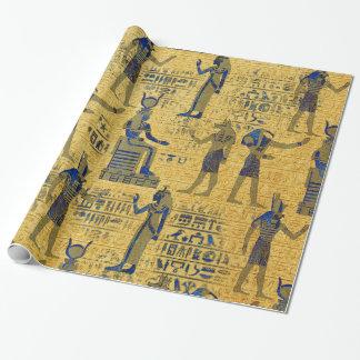 Papel De Presente Ornamento egípcio do vintage com Lazuli de Lapiz
