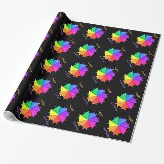 Papel De Presente orogami do arco-íris
