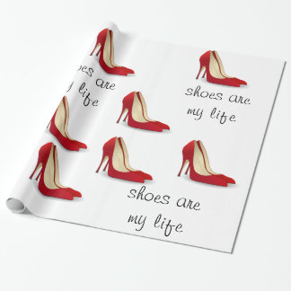 Papel De Presente Os calçados são meu papel de envolvimento da vida