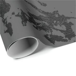 Papel De Presente Os cursos de mármore cinzentos pretos do abstrato