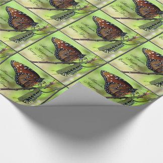 Papel De Presente Os milagre acontecem cada dia (borboleta/lagarta