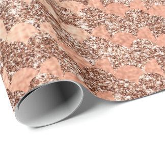 Papel De Presente Ouro cor-de-rosa do brilho de cobre metálico das
