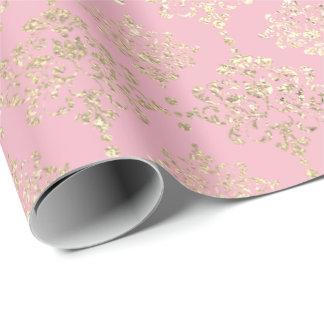 Papel De Presente Ouro metálico real cor-de-rosa do falso de