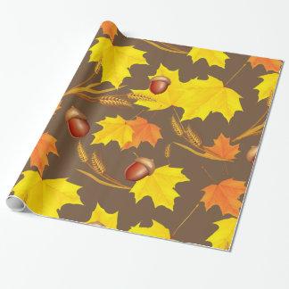 Papel De Presente Outono dourado