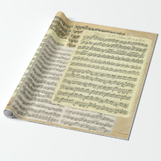 Papel De Presente Páginas do manuscrito da música de Bach