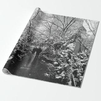 Papel De Presente País das maravilhas do inverno de NYC